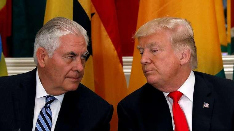 Tillerson, Trump, Amerika Serikat