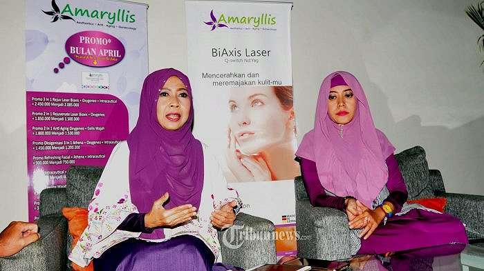 DR Nina Martini Somad SPOG Pembicara Seminar Klinik Kecantikan Amaryllis.