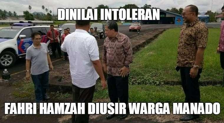 Fahri Hamzah ditolak massa di Manado