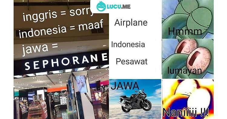 11 Meme Lucu 'Bahasa Jawa VS Bahasa Indonesia' Ini Kocaknya Bikin Mikir