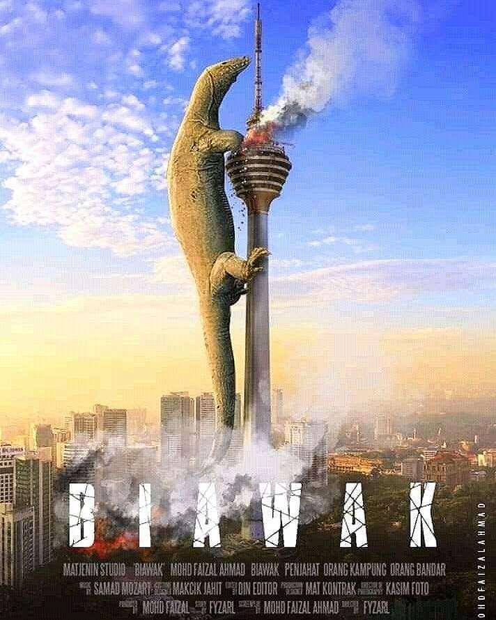 7 Meme 'Biawak Manjat Pagar' Ini Dijadiin Poster Film, Kocak!