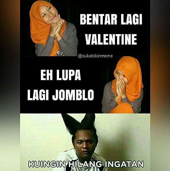 10 Meme 'Hari Valentine' Ini Kocaknya Bikin Jomblo Nangis Darah