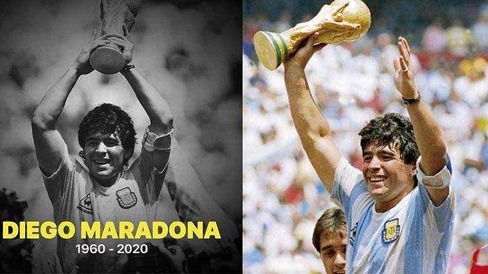 Foto-foto dan profil lengkap Diego Maradona, legenda sepak bola asal Argentina yang meninggal dunia pada Rabu (25/11/2020) malam WIB dalam usia 60 tahun.