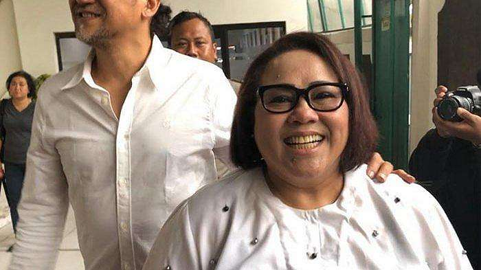 Komedian Nunung saat tiba di Pengadilan Negeri Jakarta Selatan, Rabu (2/10/2019).