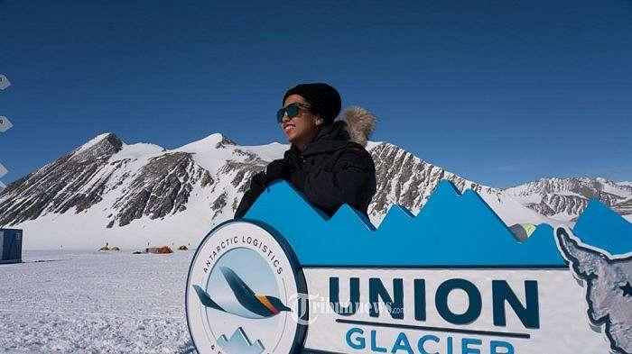 Taklukan Antartika, Naila Novaranti Wanita Pertama dan Tercepat Dengan Terjun Payung ke 7 Benua.