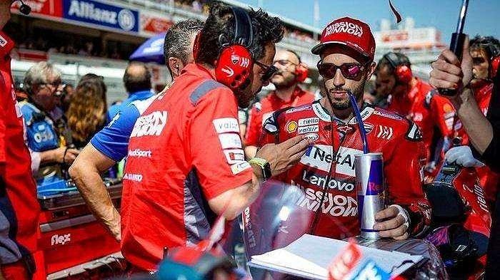 Andrea Dovizioso (Mission Winnow Ducati) mendapat kesialan saat tampil pada sesi balapan MotoGP Catalunya 2019, Minggu (16/6/2019).