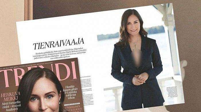 Foto PM Finlandia Sanna Marin dikritik lantaran dinilai terlalu seksi dengan memperlihatkan belahan dada.