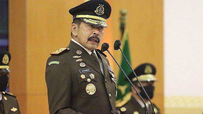 Jaksa Agung ST Burhanuddin saat menjadi inspektur upacara peringatan Hari Bhakti Adhyaksa ke -60 Tahun 2020, Rabu (22/7/2020).