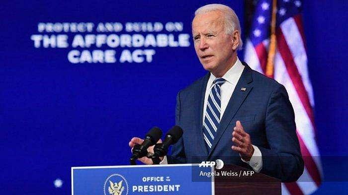 Presiden terpilih AS Joe Biden menyampaikan sambutan di The Queen di Wilmington, Delaware, pada 10 November 2020.  Joe Biden menyampaikan pidato dalam perayaan Thanksgiving dan serukan agar perseteruan yang terjadi di AS diakhiri.