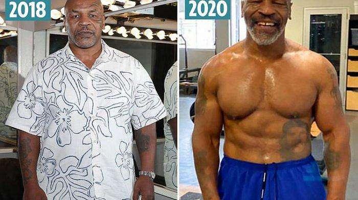 Perubahan tubuh Mike Tyson setelah kembali berlatih tinju.