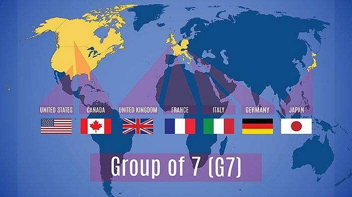 Peta dunia para anggota G7.