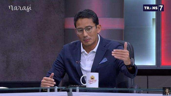 Sandiaga Uno dalam Mata Najwa episode
