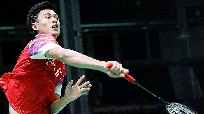 Tunggal putra Indonesia Shesar Hiren Rhustavito saat menghadapi Kim Dong Hoon di BATC 2020, Filipina, Rabu (12/2/2020)