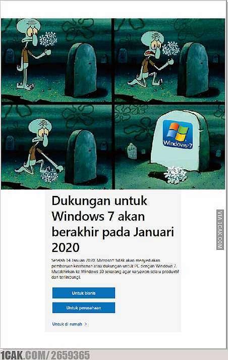 meme Windows 7 berbagai sumber