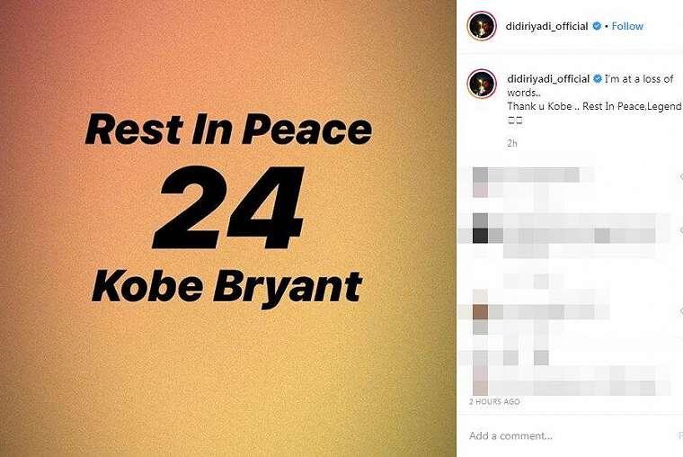 Ucapan duka Kobe Bryant instagram