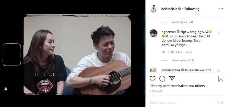 Agnez Mo ucap belasungkawa Instagram