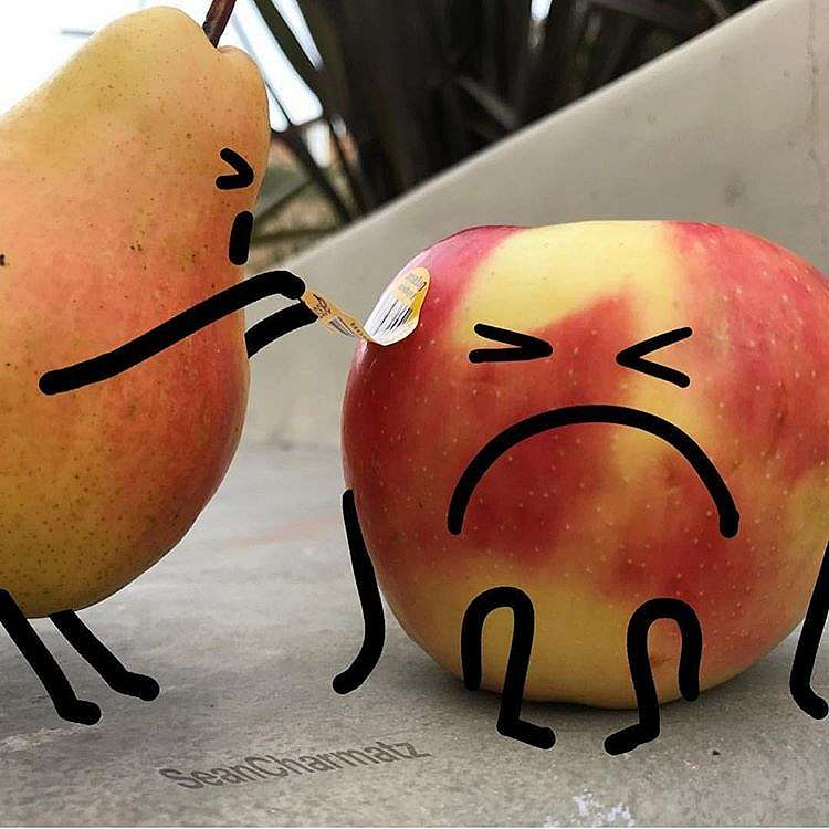 Potret editan buah jika dikehidupan nyata Instagram/ @puuung1