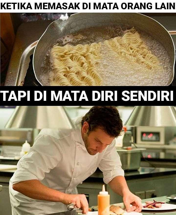 Meme masak berasa koki Berbagai sumber