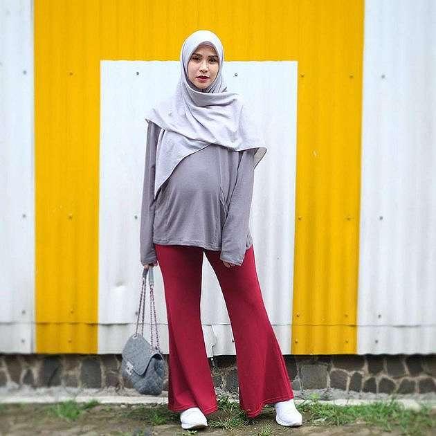 inspirasi outfit bumil ala zaskia adya mecca instagram