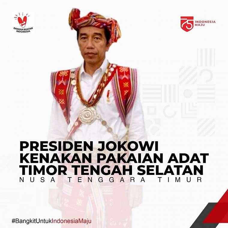 Pakaian Adat Jokowi © 2020