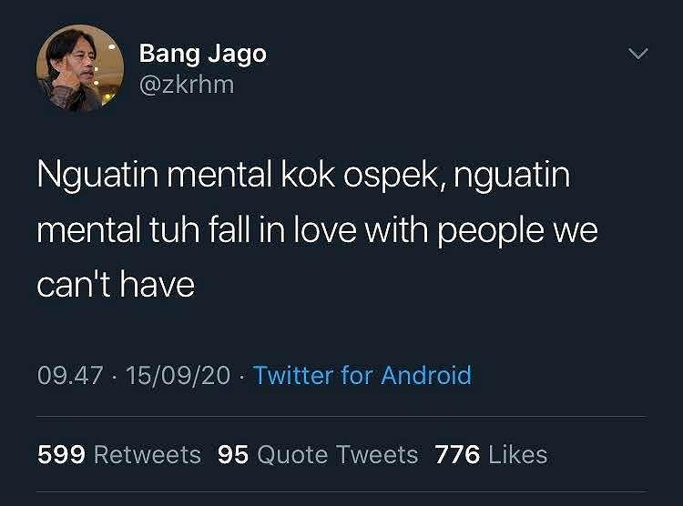 cuitan melatih mental Twitter
