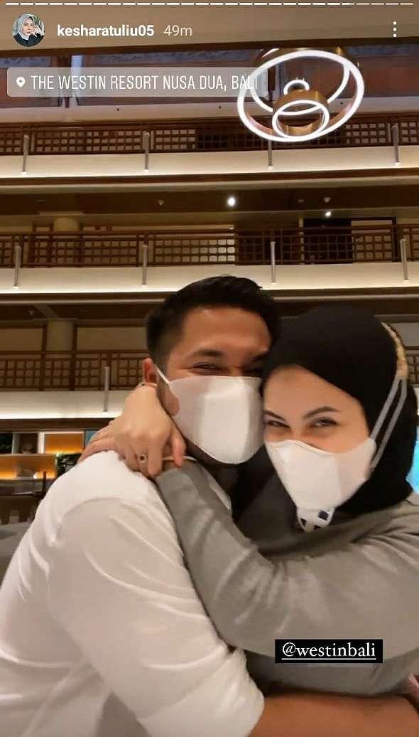 honeymoon Kesha Ratuliu    Instagram