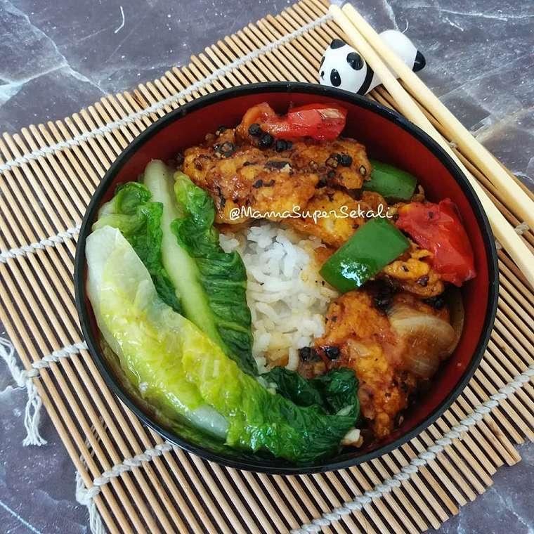 Resep rice bowl ala kafe    Instagram
