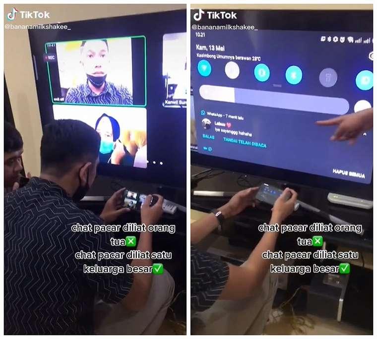 chat ketahuan satu keluarga    2021 TikTok