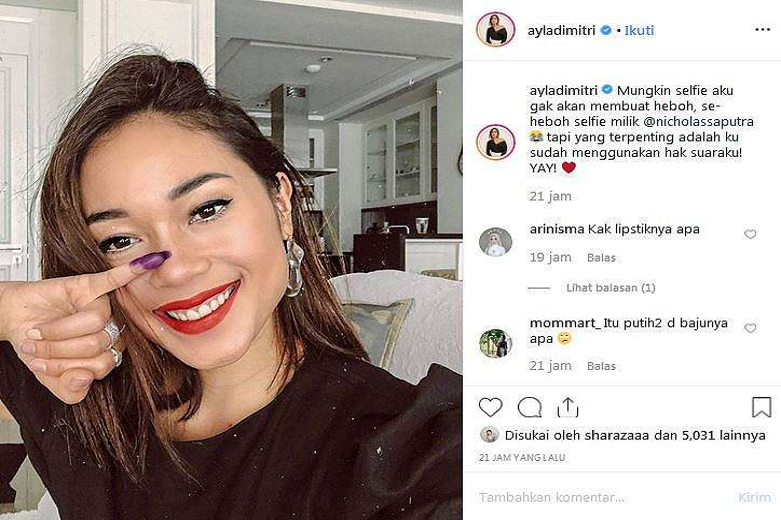 tanggapi viral selfie Nicholas Saputra istimewa