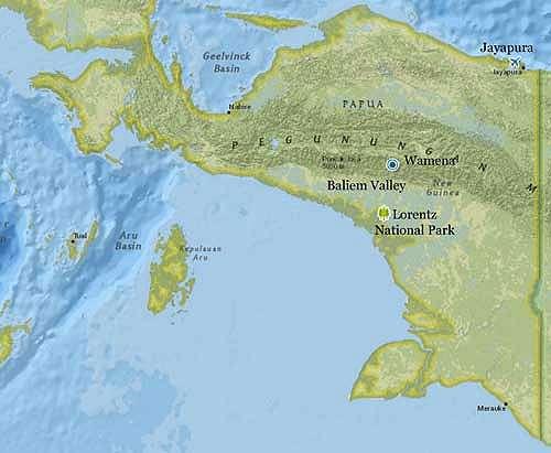 Peta Taman Nasional Lorentz
