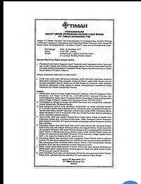 Surat RUPSLB Timah