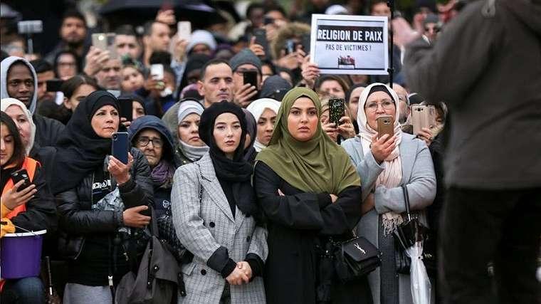 Unjuk rasa Anti-Islamfobia di Paris, 27 Oktober 2020