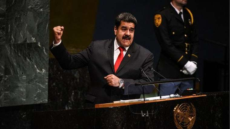 Venezuelan President Nicolas Maduro at the UN