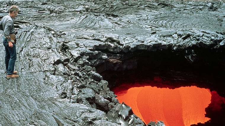 Unlike this, the lava tube the man fell into appears to have been dormant (FILE)
