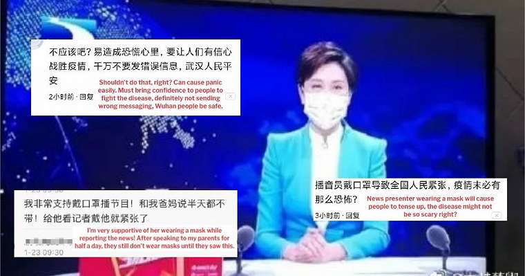 Viral foto presenter TV gunakan masker