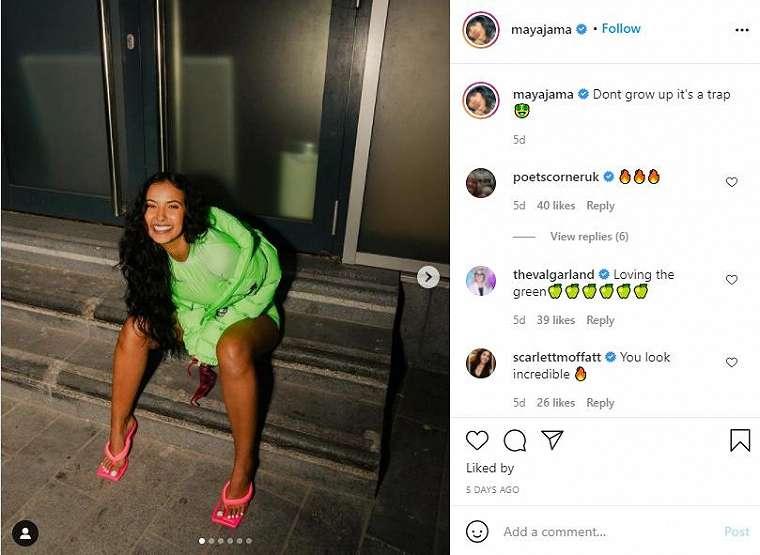 Presenter seksi Maya Jama. (Instagram/mayajama)