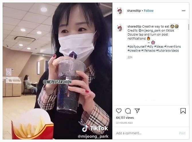 Tips Makan dengan Masker (instagram.com/sharedtip)