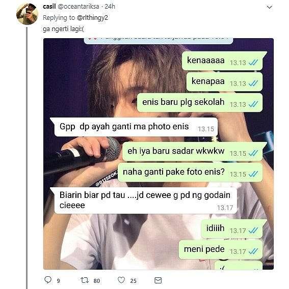 Chat bareng ayah. (twitter/oceantariksa)