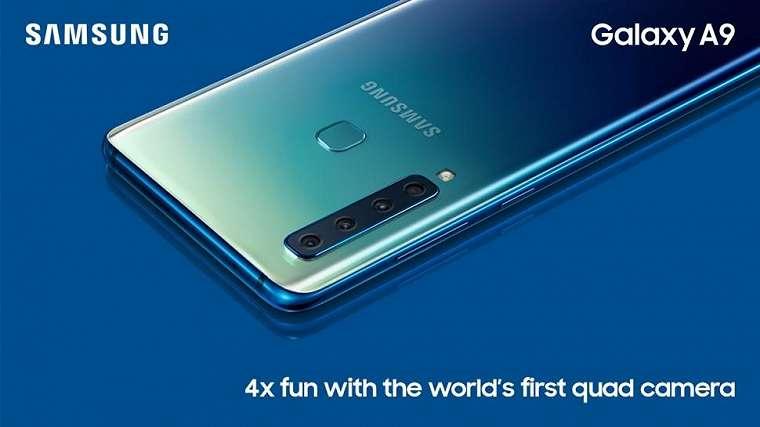 Samsung Galaxy A9 hadir dengan 4 kamera utama. (Samsung)