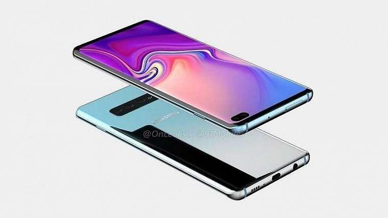 Samsung Galaxy S10 Plus. (OnLeaks 91Mobiles)