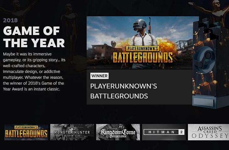 PUBG jadi Game of The Year di Steam Award 2018. (Steam)