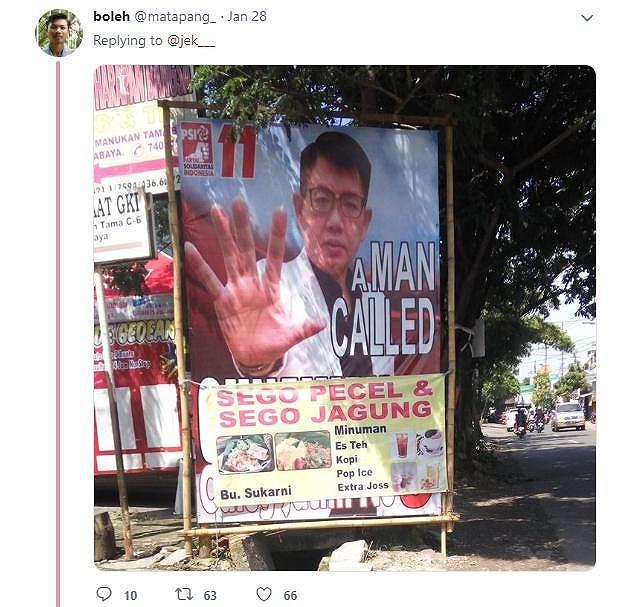 Baliho caleg. (twitter/matapang_)