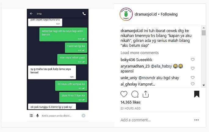 Customer buat netizen emosi. (instagram/dramaojol.id)