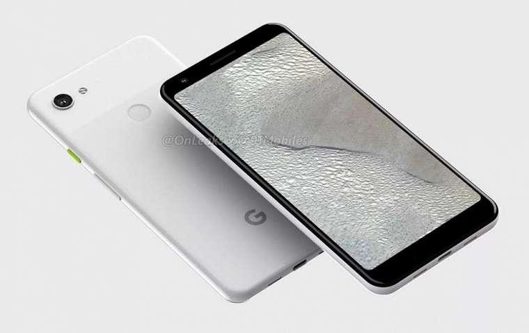 Render Google Pixel 3 Lite XL. (91Mobiles)