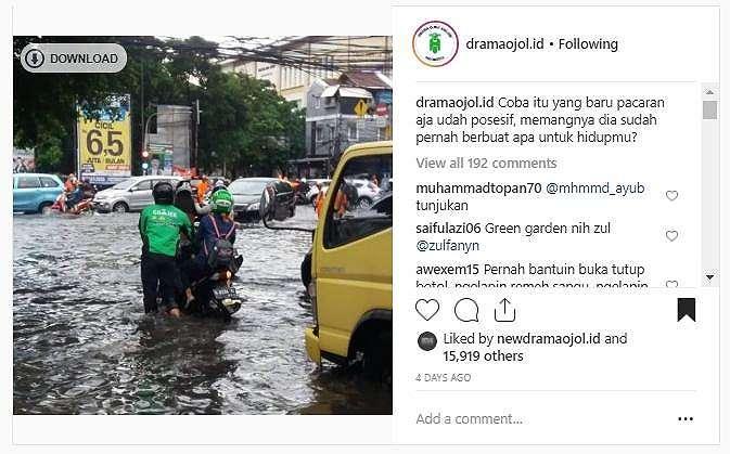 Driver ojol lakukan hal manis. (instagram/dramaojol.id)