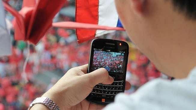 Blackberry messenger. (Shutterstock)