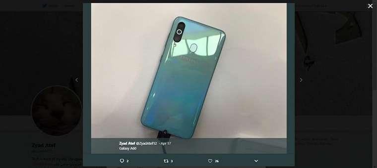 Samsung Galaxy A40s. (twitter/ZyadAteff12)