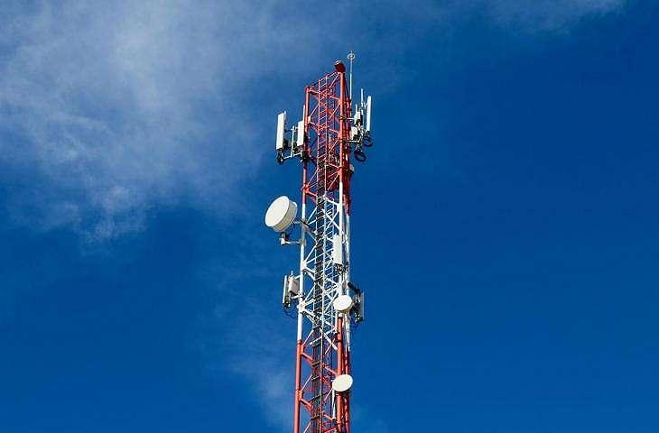 Ilustrasi tower jaringan seluler. (Pixabay)