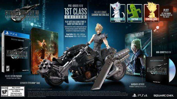 First Class Edition Final Fantasy VII Remake. (Square Enix)