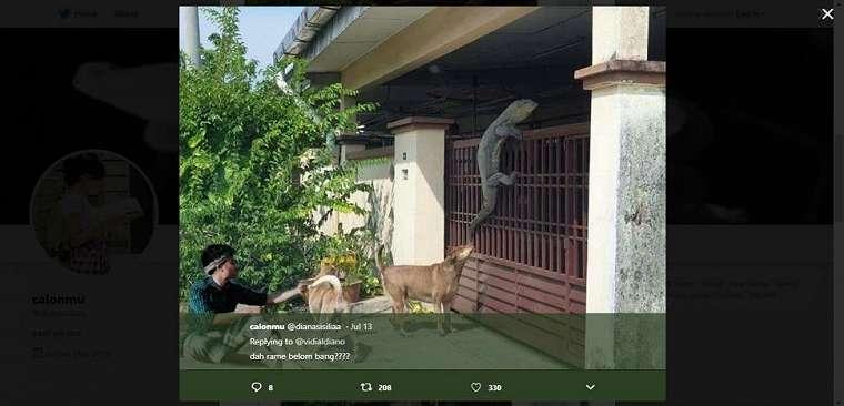 Vidi Aldiano minta edit foto. (twitter/dianasisiliaa)